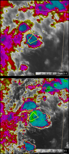 GOES/MODIS comparison of NM Convection