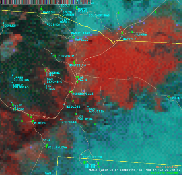 1km MODIS false color 01/09/12 1710UTC