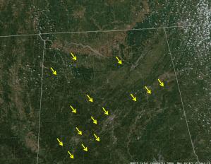 MODIS 500 m Color Composite Image, 1847 UTC 23 April 2012