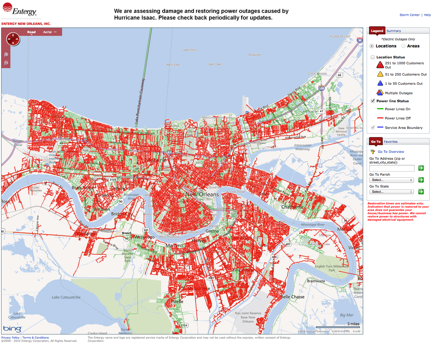 New Orleans Power Outages Seen by the VIIRS Day-Night Band – The