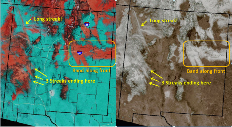 Snow-Cloud RBG (left) and  True Color RGB Imagery taken at 1741Z on January 30, 2013.