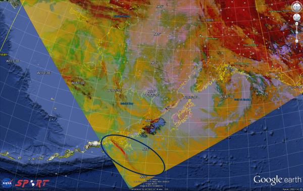 VIIRS RGB Dust Imagery 1138 UTC 18 May 2013