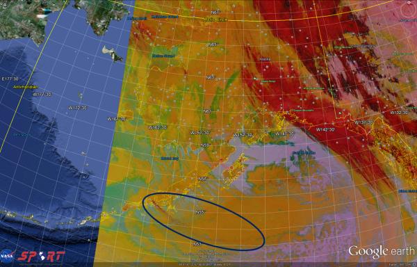 VIIRS RGB Dust Imagery 2135 UTC 18 May 2013