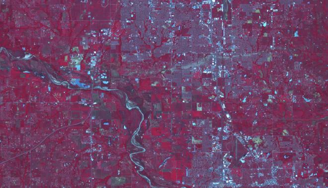 ASTER False Color Reflectance Image taken on June 2, 2013