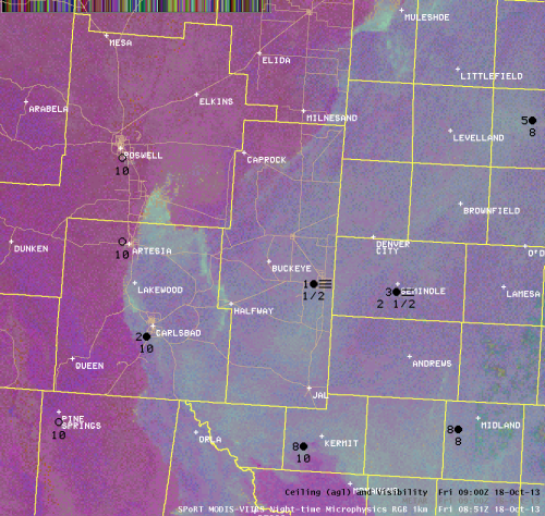 Nighttime Microphysics RGB valid 251am MDT October 18, 2013.