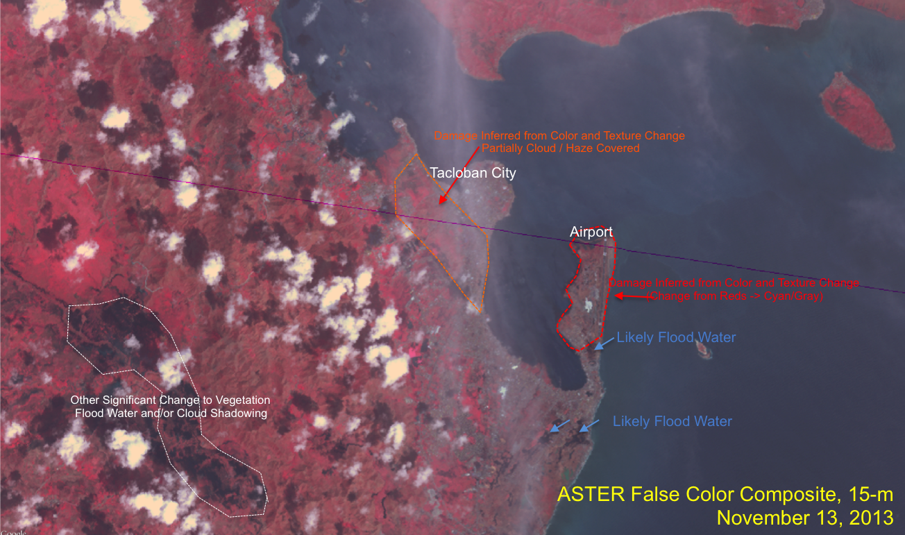 Landsat-8 and ASTER Comparisons for Tacloban City – The Wide