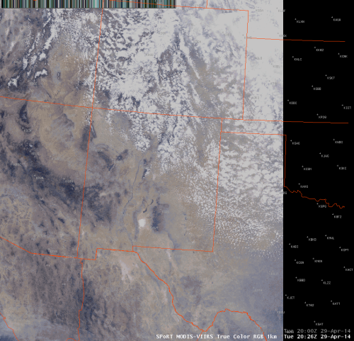 MODIS-VIIRS 1-km True Color image valid 2026UTC April 29, 2014.