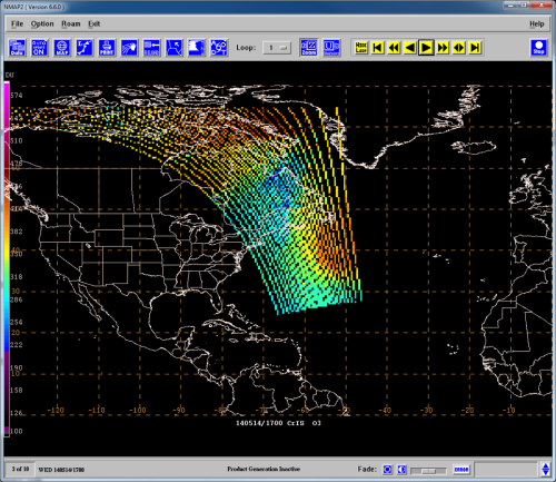 1700 UTC 14 May 2014 CrIMSS Total Column Ozone