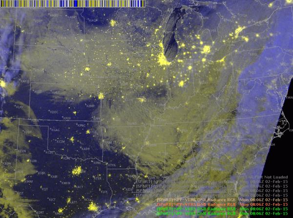 VIIRS Day-Night Band Radiance RGB