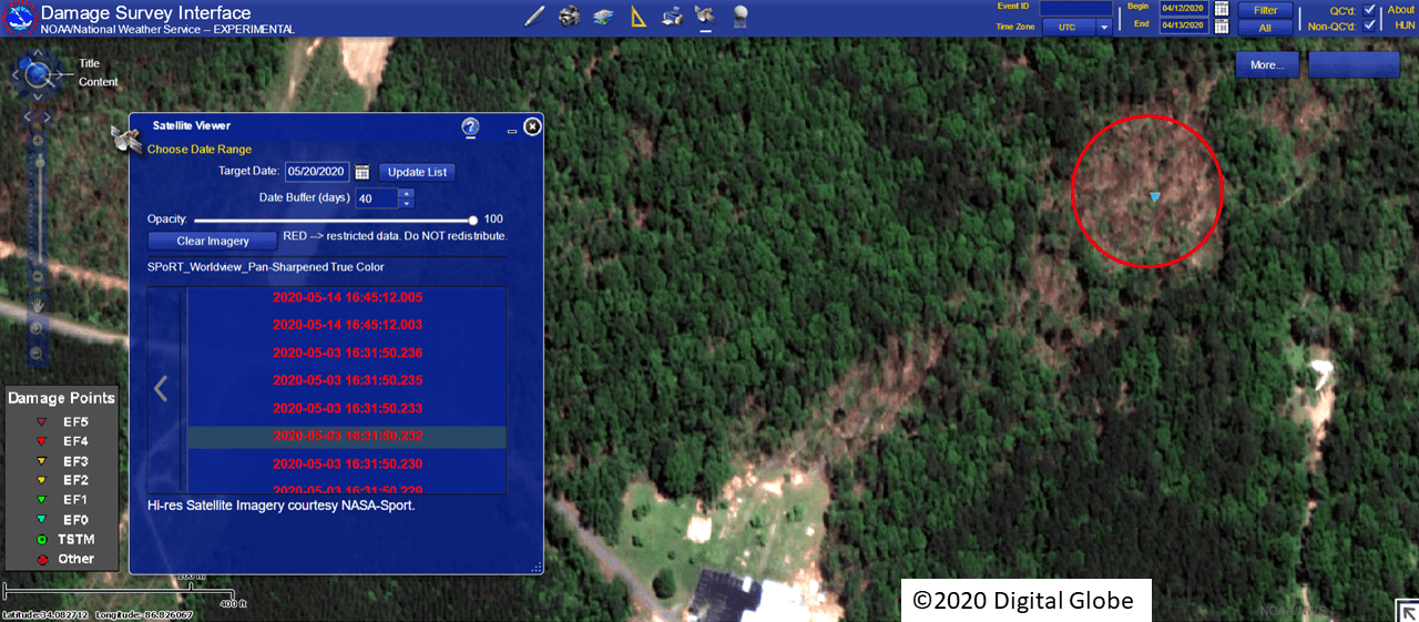 TreeSwathNearChurchCemetery_CullmanCounty_12Apr2020_TorDamage_Worldview_wLogo